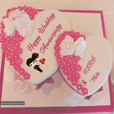 Latest Double Heart Awesome Wedding Anniversary Couple Name Cakes My name Pix . Latest Double Heart Awesome Wedding Anniversary Couple Name Cakes My name Pix cards Happy Marriage Anniversary Cake, Anniversary Cake Pictures, Anniversary Cake With Photo, Happy Wedding Anniversary Wishes, Romantic Anniversary, Golden Anniversary, Anniversary Gifts, Wedding Cake With Name, Wedding Cake Images