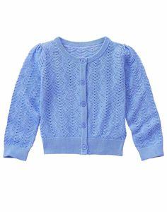 NWT Gymboree TROPICAL BREEZE Pointelle Cardigan Sweater Ocean Blue Sz 4 5-6 7-8 #Gymboree #Cardigan #EasterDressyEverydayHolidayParty