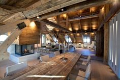 Iced Water is a rustic but modern mountain apartment was created by Bo Design.
