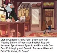 """The cartoon """"Tom and Jerry"""" dedicated a whole episode to Illuminati worship and even went so far as to have the characters worship the Devil while wearing pyramid hats with eyes on the pinnacles. They are told that Satan is the president of Hollywood, which likely is not far from the truth."""