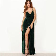 Sexy Dresses, Elegant Dresses, Sleeveless Dresses, Club Dresses, Prom Dresses, V Neck Cocktail Dress, Black Cocktail Dress, Backless Long Dress, Vestidos Sexy