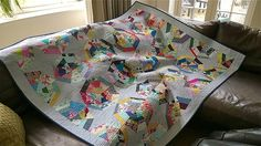 Siblings Together scrappy spiderweb quilt finished :) | Flickr - Photo Sharing!