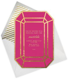 Pink + Gold invite - paperless post