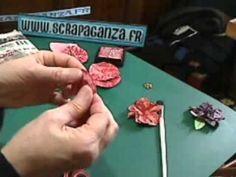 scrapbooking gratuit: façonner une fleur avec scrapaganza.fr