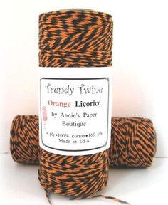 Ohhhh Orange Licorice is the specialty Halloween twist.  A bit spooky but is perfect for tricks and treats.
