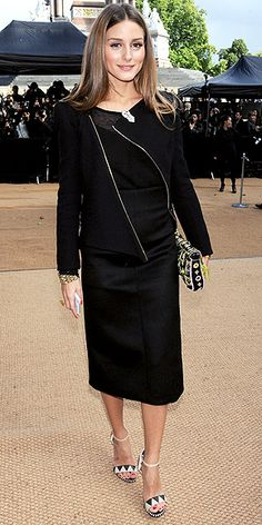 wearing Sergio Rossi heels at the Burberry Prorsum show (sept 2013)