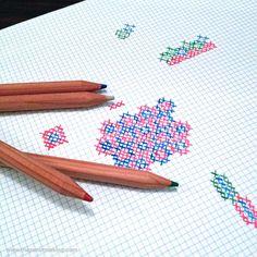 Sunday Snapshot: Hand-Sketching Cross-Stitch Patterns #crossstitch #embroidery