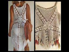 crochet blusa o vestido para playa - YouTube
