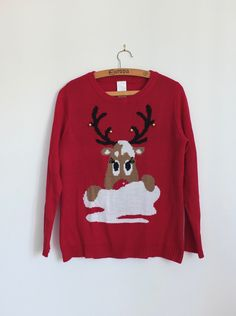 cd1b9b74f5d Christmas sweater women size L Christmas sweater ugly   red woman ugly  sweater christmas ugly christmas sweater