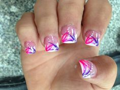 Pretty but only on one nail Nail Designs Spring, Cool Nail Designs, Acrylic Nail Designs, Cute Toenail Designs, Acrylic Nails, Gel Nail, French Manicure Nails, French Tip Nails, Gorgeous Nails