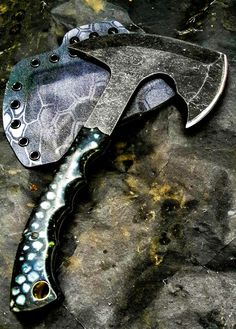 Half Life Knives Tac Hawk made from Aldo's 80crv2, with Voodoo Resins scales...