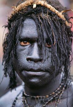 Portrait of Bomai warrior, Papua New Guinea