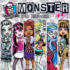 Monster High 2015 Mini Wall Calendar | CALENDARS.COM - $7.99 | This new mini wall calendar for 2015 features all your favorite Monster High characters including Frankie Stein, Draculaura, Clawdeen Wolf, Lagoona Blue, Cleo de Nile, Ghoulia Yelps, and Deuce Gorgon.