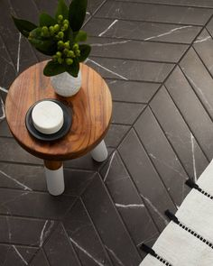 Classic, high-end, and stylish—a few words that come to mind when looking at the Tinos Black Chevron🖤 Marble Look Tile, Honed Marble, Ceramic Wall Tiles, Mosaic Wall, Wall Trim, The Tile Shop, Bathroom Tile Designs, Black Chevron, Wall And Floor Tiles