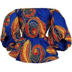 Rayo Bishop Sleeve Off Shoulder African Print Top - Blue/Red African Print Clothing, African Print Dresses, African Dress, African Clothes, African Prints, African Hair, African Beauty, African Fashion Ankara, Latest African Fashion Dresses
