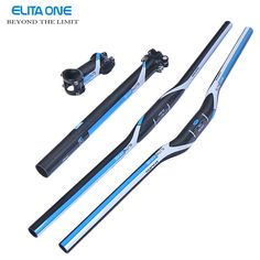 42.16$  Buy now - http://aligx6.shopchina.info/go.php?t=32794359838 - ELITA ONE Full Carbon Fiber MTB Handlebar Bicycle Stem+ Carbon seatpost tube + Flat Riser Mountain Bike Bar   #buychinaproducts