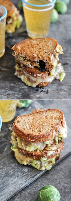 Balsamic Brussels Sprouts Grilled Cheese by @howsweeteats I howsweeteats.com