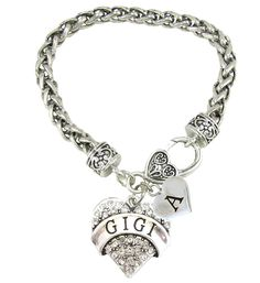 Holly Road Gigi Crystal Heart Silver Lobster Claw Bracelet Heart Jewelry Choose Your Text -- Wonderful of you to drop by to view our photo. (This is an affiliate link) Heart Bracelet, Heart Jewelry, Link Bracelets, Jewelry Bracelets, Lobster Claws, Accessories Store, Clear Crystal, Initials, Crystals