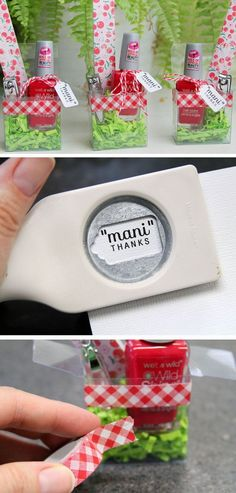 Mani Thanks | 20 + DIY Christmas Gifts for Teachers From Kids