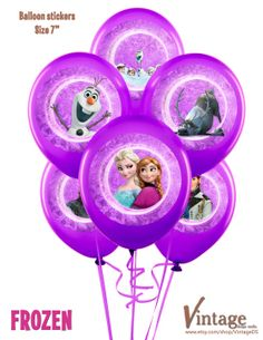 Disney Frozen Birthday Party Circles / Balloon от VintageDS, $6.99