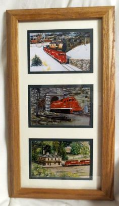 LAST 1 LEFT!!  NEW 3 CHICAGO CENTRAL TRAIN PRINTS BY IOWA ARTIST COLLEEN CARSON