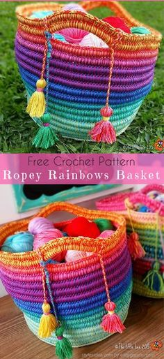 """Crochet → Basket Container 