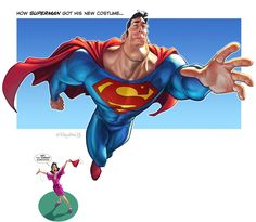 Superman's new costume by Loopydave on DeviantArt