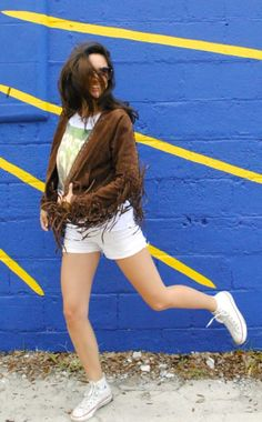 Fringe jacket and graphic tee by @lyricculture!