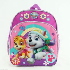 1d68b37cbdc Paw Patrol Backpack for Girls Toddlers Mini Side Pockets Skye Everest