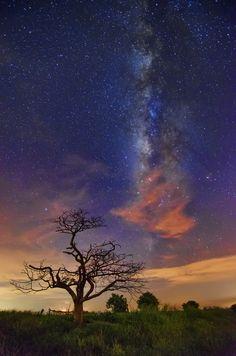 Dancing at Milky Way by Kin Wah Wong