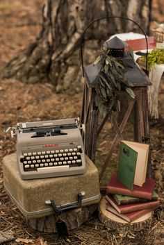Rustic woodland outdoor fairytale wedding