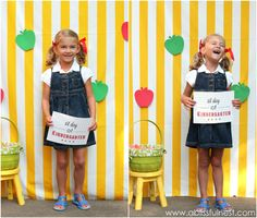 1st Day of School Photo Ideas. Free Printable Signs by A Blissful Nest via LivingLocurto.com