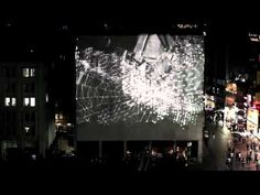 Projected images in public space Instanbul