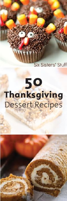This list of 50 Thanksgiving Desserts includes a wide variety of delicious and creative ways to incorporate pumpkin into your turkey day treats. Give a few of these quick and easy recipes a try and enjoy all the smiling faces.