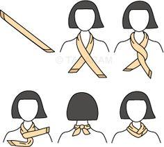 Anleitung zum Binden von Halstüchern - Der Twist Mehr