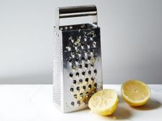Degunk a Box Grater : The nooks and crannies of a grater can hold on to pieces of food even after it has been thoroughly washed with soap and water. To rid your grater of those leftovers, shred half a lemon on it, making sure the juice and pulp reach every hole. Run under water and dry with a clean towel for a spotless shine.