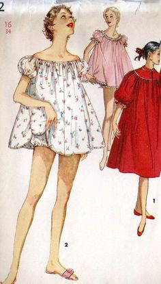 My mom had  pjs like this when she was a teen in the 50's