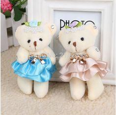 Aliexpress.com: Koop 2pcs12cm kid speelgoed pluche pop mini kleine teddybeer bloem boeketten beer voor wedding en voor baby geschenken gratis verzending van betrouwbare pop mannen leveranciers op Little little Toy store
