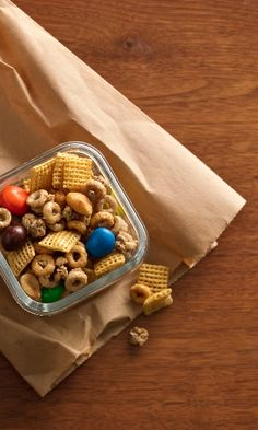Honey Peanut School Fuel {with #chex cereal, cheerios and m&m's}