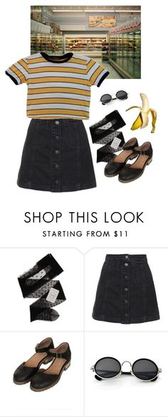 """eh"" by paper-freckles ❤ liked on Polyvore featuring Gerbe, Topshop and Retrò"