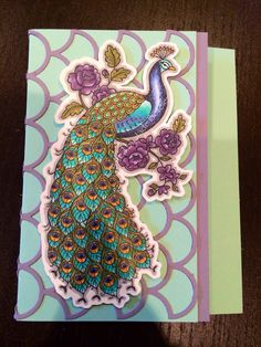 Perfect Peacock greeting card Created by Jade Boteler