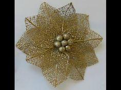 DIY:How to:Tutorial:Skeleton leave flowers:handmade