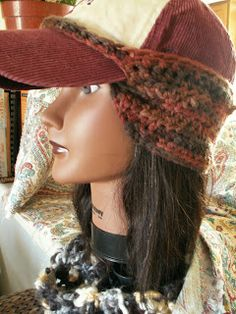 Tupelo Creative: Here it is! The baseball cap ear warmer! Tupelo Creative: Here it is! The baseball cap ear warmer! Knit Mittens, Knitted Hats, Cute Camping Outfits, Headband Men, Crochet Christmas Gifts, Hat Decoration, Bib Pattern, Easy Crochet Patterns, Hat Patterns