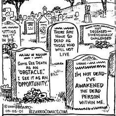 I Hear Plan B is Burial at Sea.: Cartoon Cemeteries