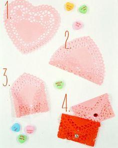 DIY Heart Doily Envelopes http://www.thecofranhome.com