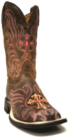 Tony Lama Women's San Saba Tan Navajo Cowboy Boot -- This is a great pair of cowboy boots for your wedding day!   SouthTexasTack.com