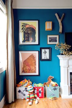 Gorgeous wall color.