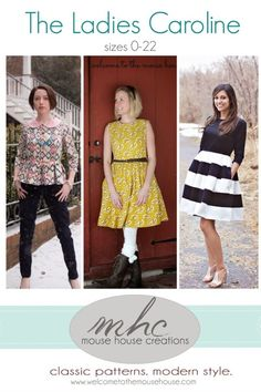 Ladies' Caroline Dress and Peplum (pattern by mouse house creations)