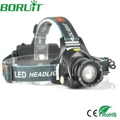 BORUIT 800LM T6 LED Headlamp 3-Mode Zoomable Headlight Lantern for Camping Fishing Head Torch Lamp Light by 18650 Battery #Affiliate