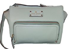 Kate Spade New York Baxter Street Sevilla Leather Crossbody, Dusty Mint * You can get additional details at the image link.